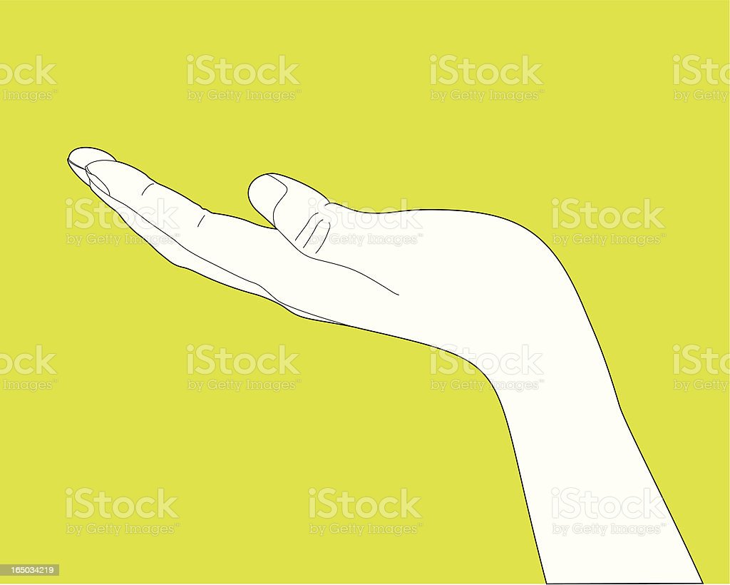 Showing Hand Gesture vector art illustration