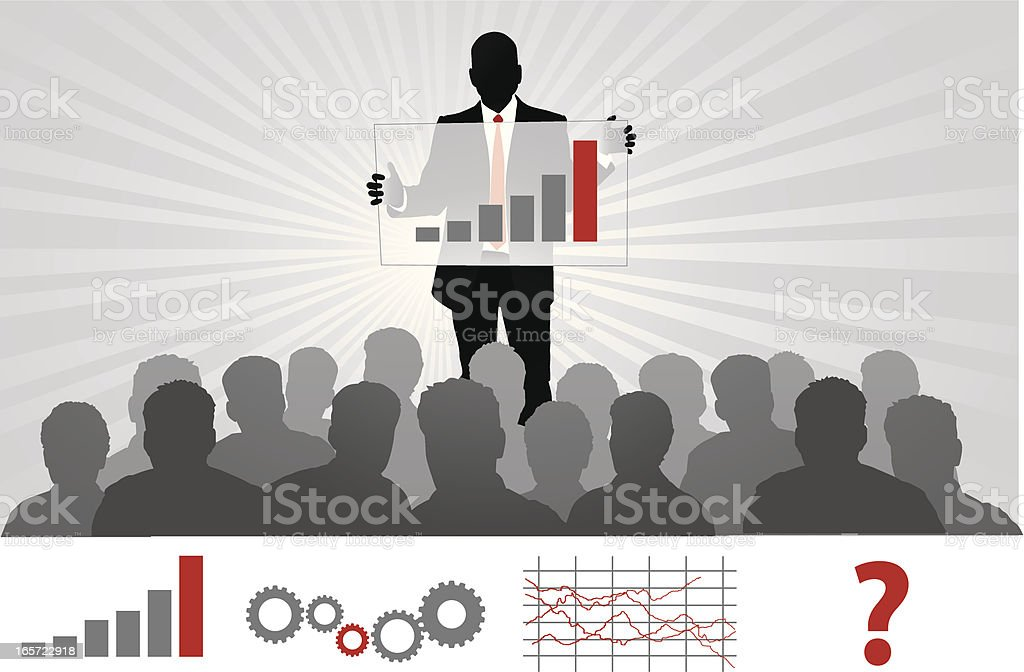 Showing to the Crowd royalty-free stock vector art