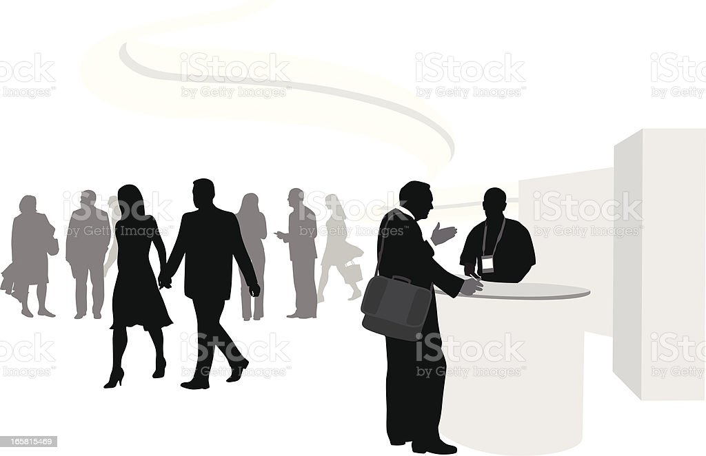 Show'n Tell Vector Silhouette vector art illustration