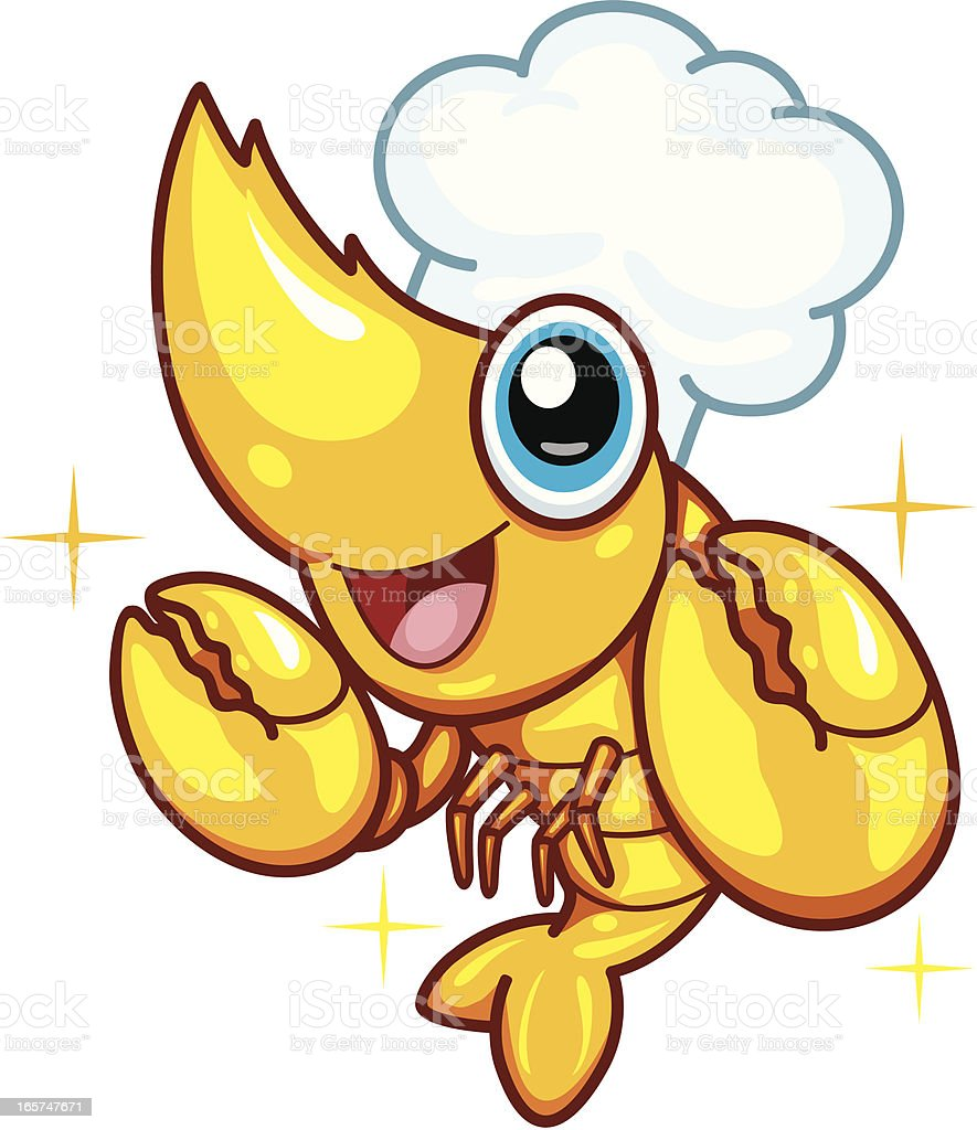 Shrimp Cartoon New royalty-free stock vector art
