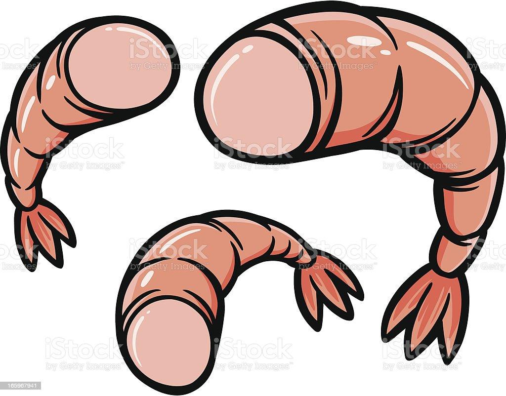 Shrimp Dinner vector art illustration