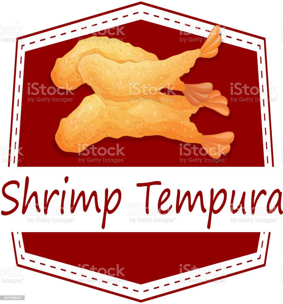 Shrimp tempura vector art illustration