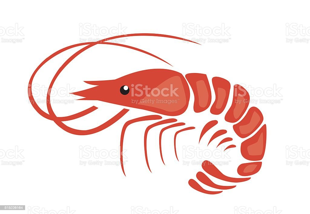 shrimp clip art  vector images   illustrations istock Shrimp and Fish Fish in Water Art