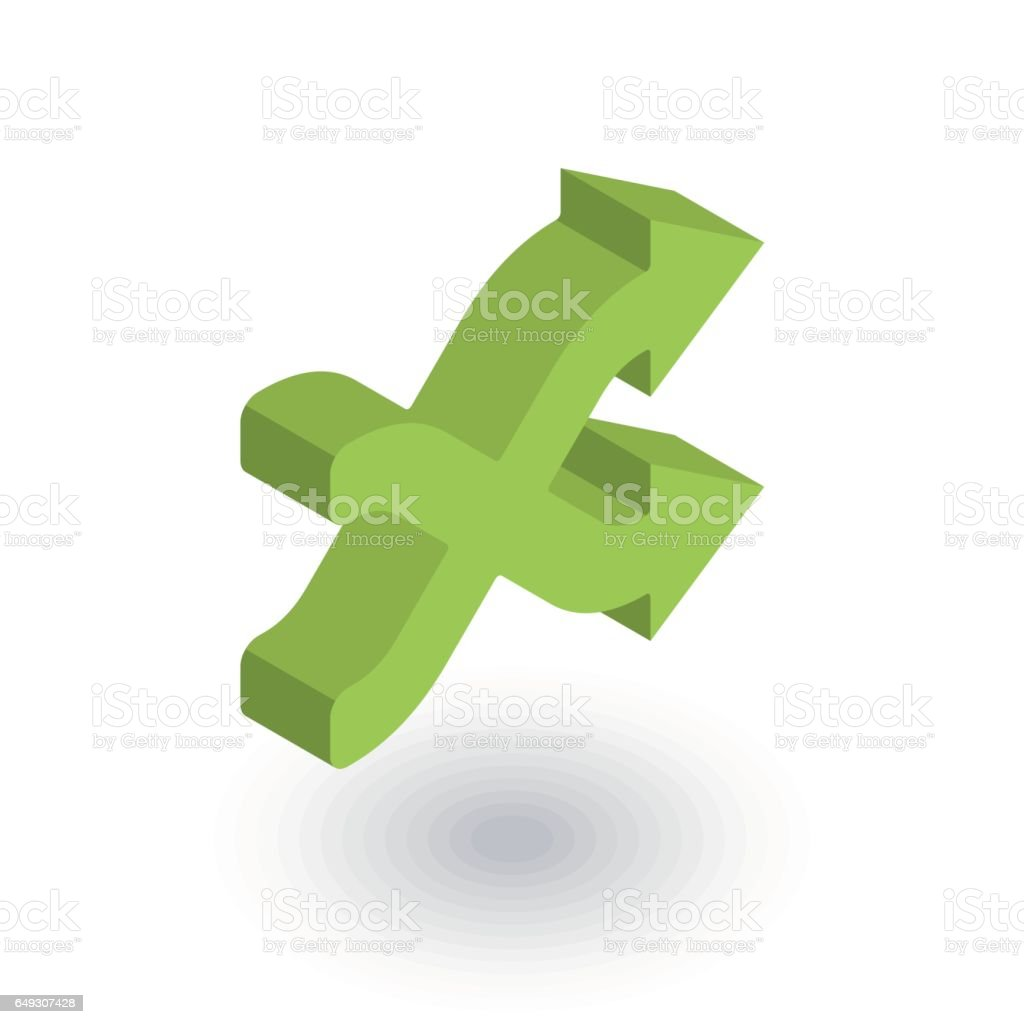 shufle, mix, random, intersecting arrow isometric flat icon. 3d vector vector art illustration