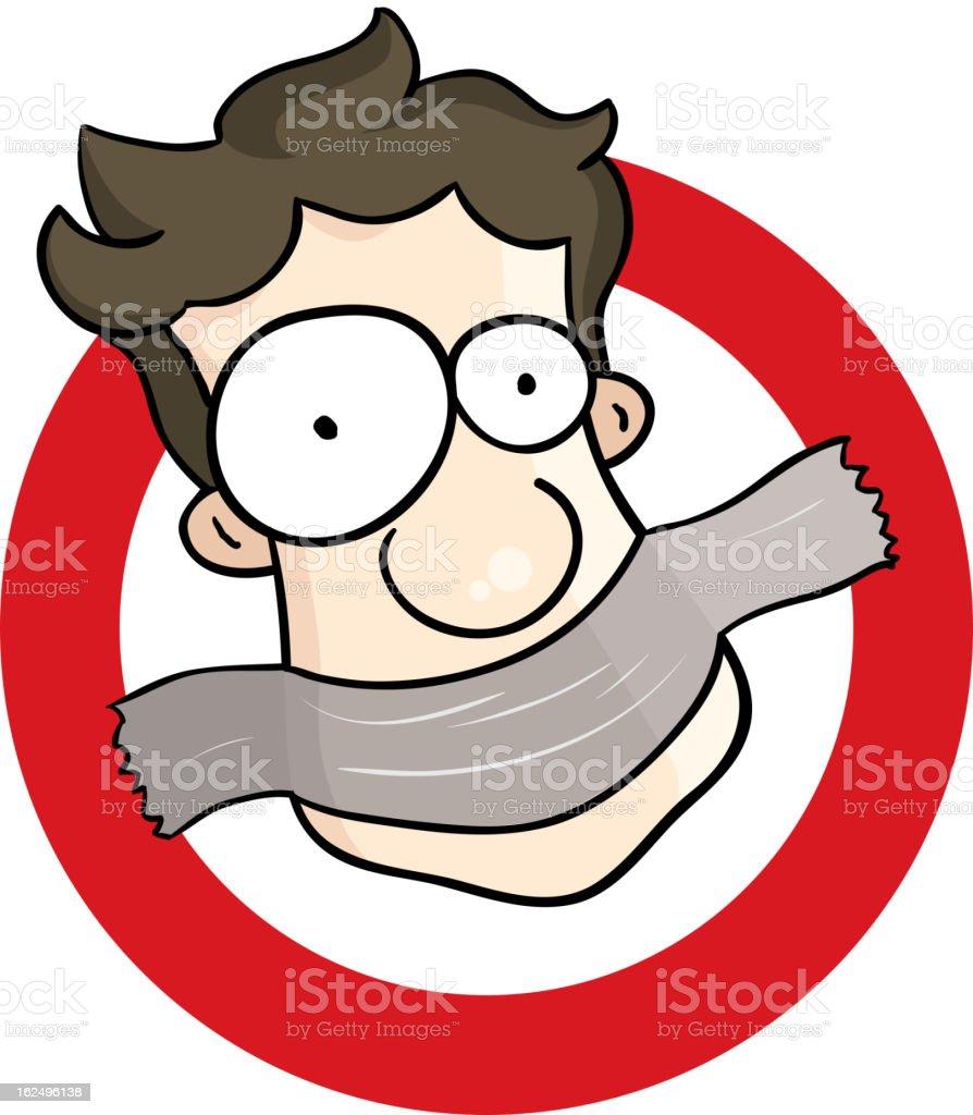 Shut Up vector art illustration