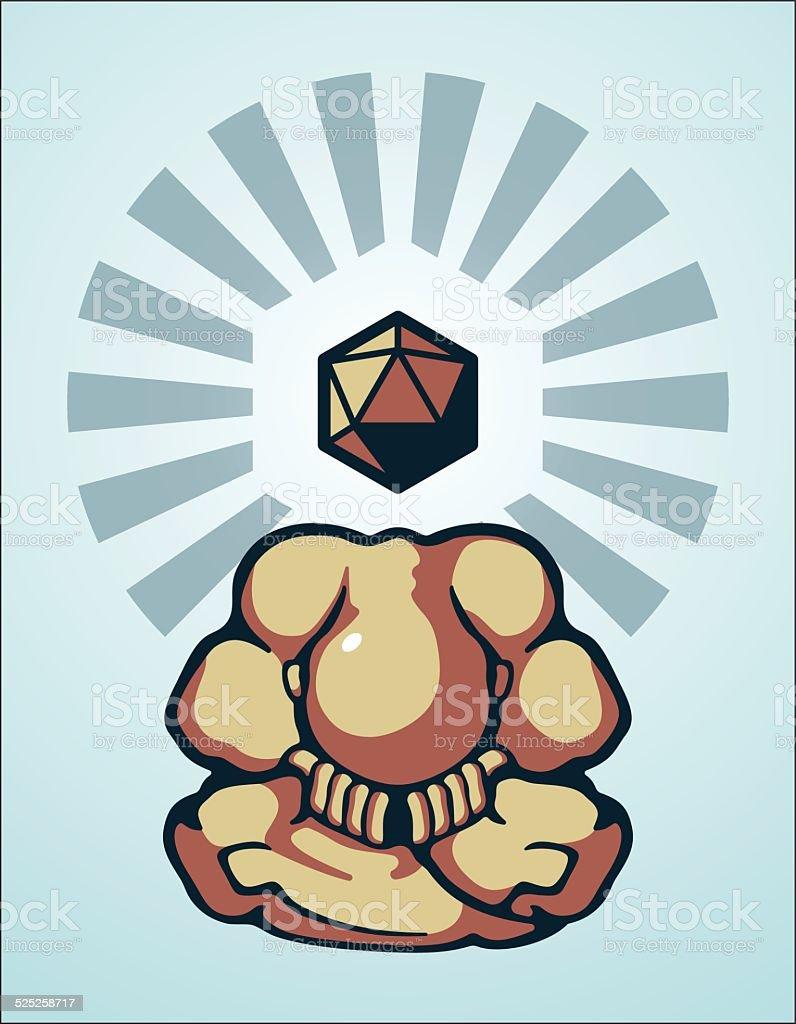 Shy Buddha vector art illustration