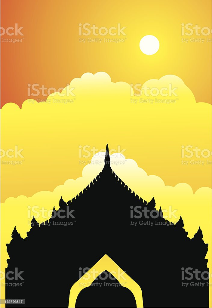 Siam Temple royalty-free stock vector art