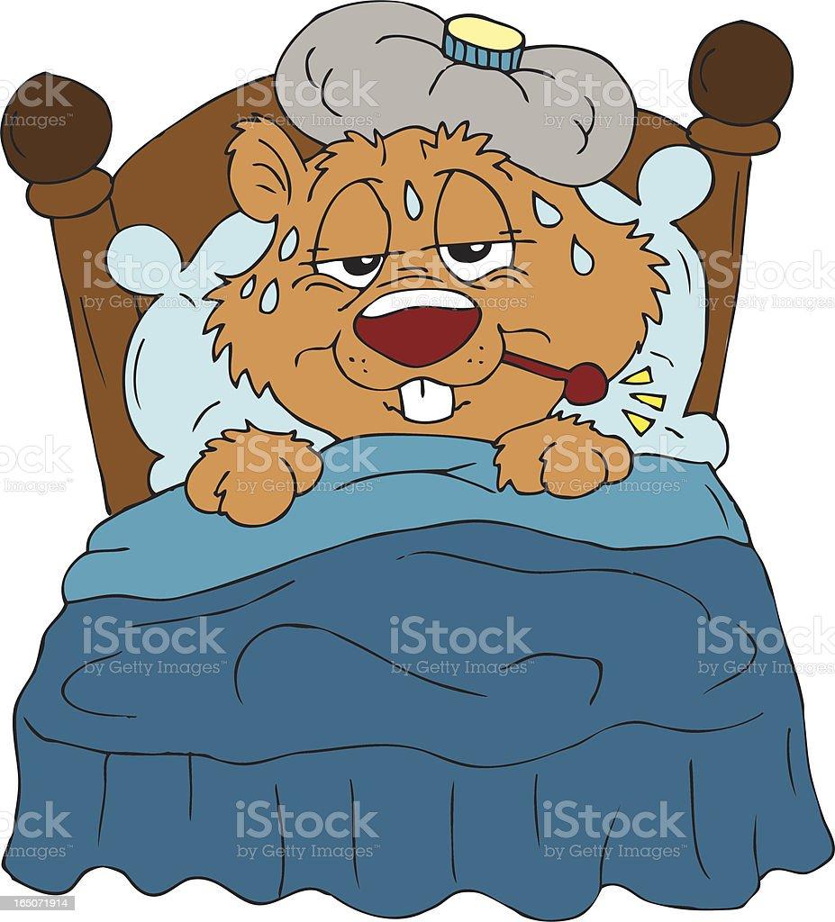Sick Beaver! royalty-free stock vector art