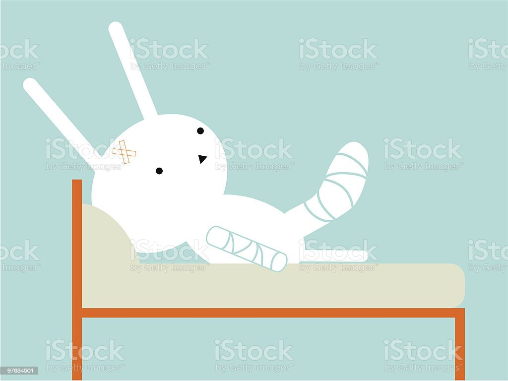 Sick bunny royalty-free stock vector art