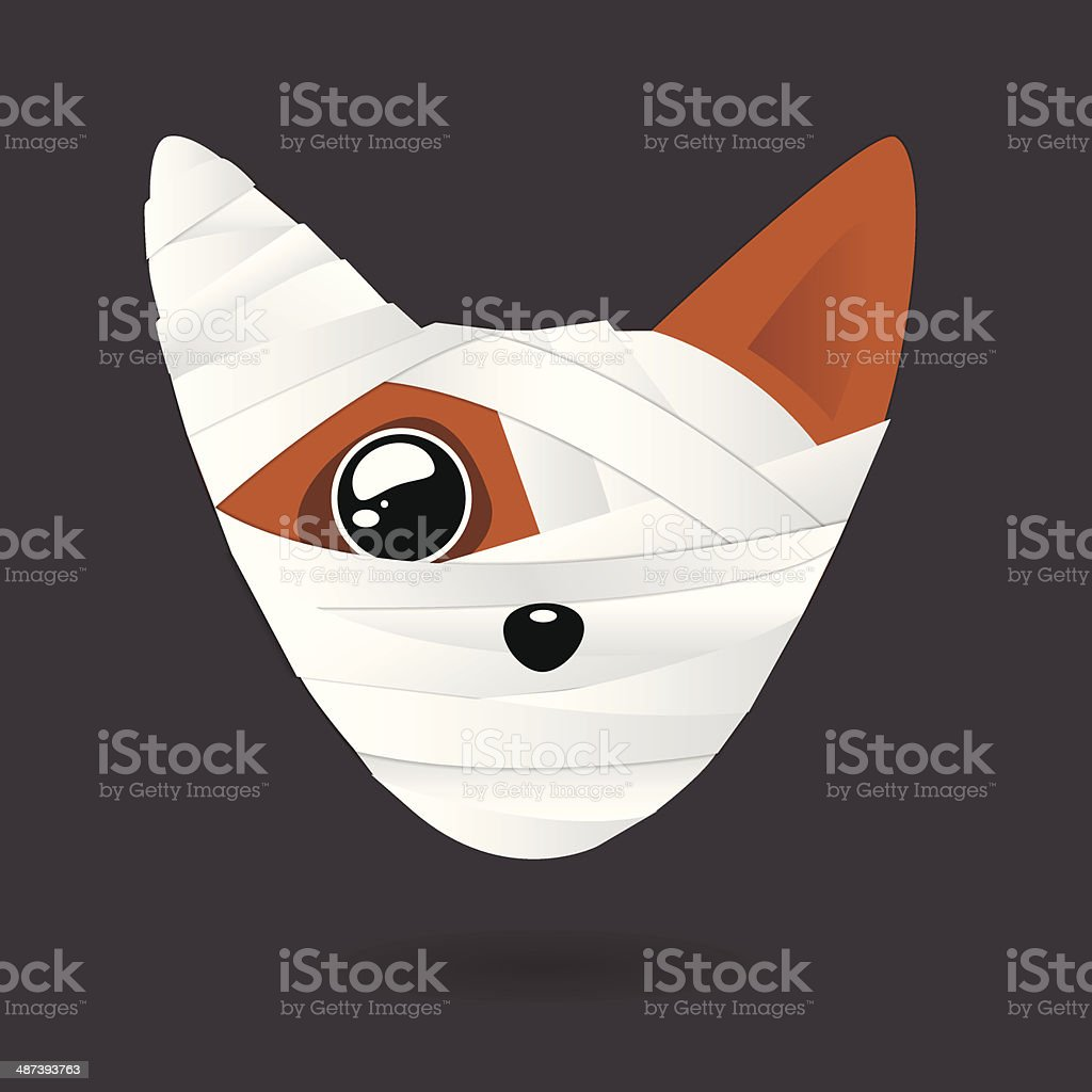 sick dog head royalty-free stock vector art