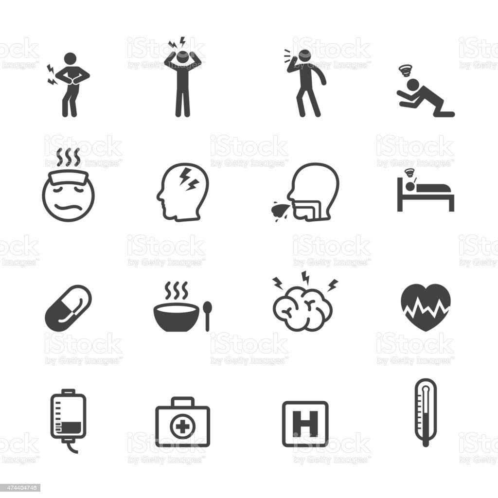 sick icons vector art illustration