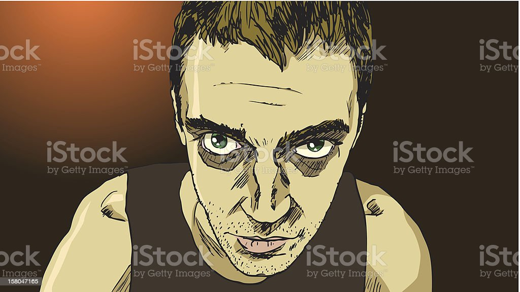 Sick looking man royalty-free stock vector art