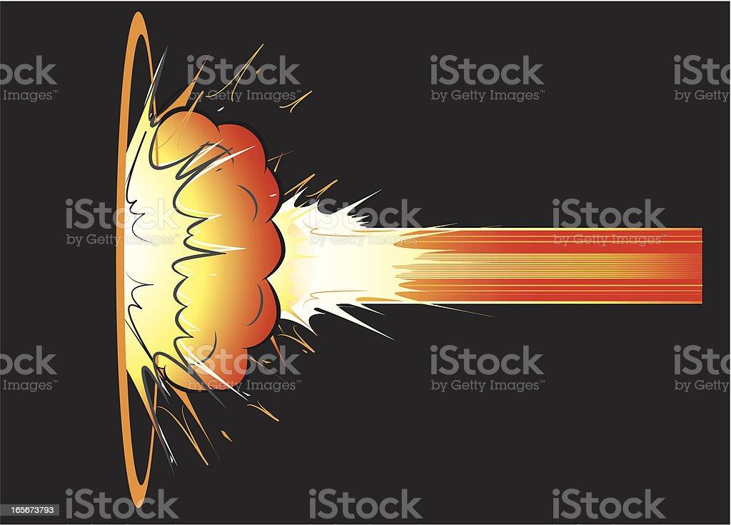 Side explosion vector art illustration