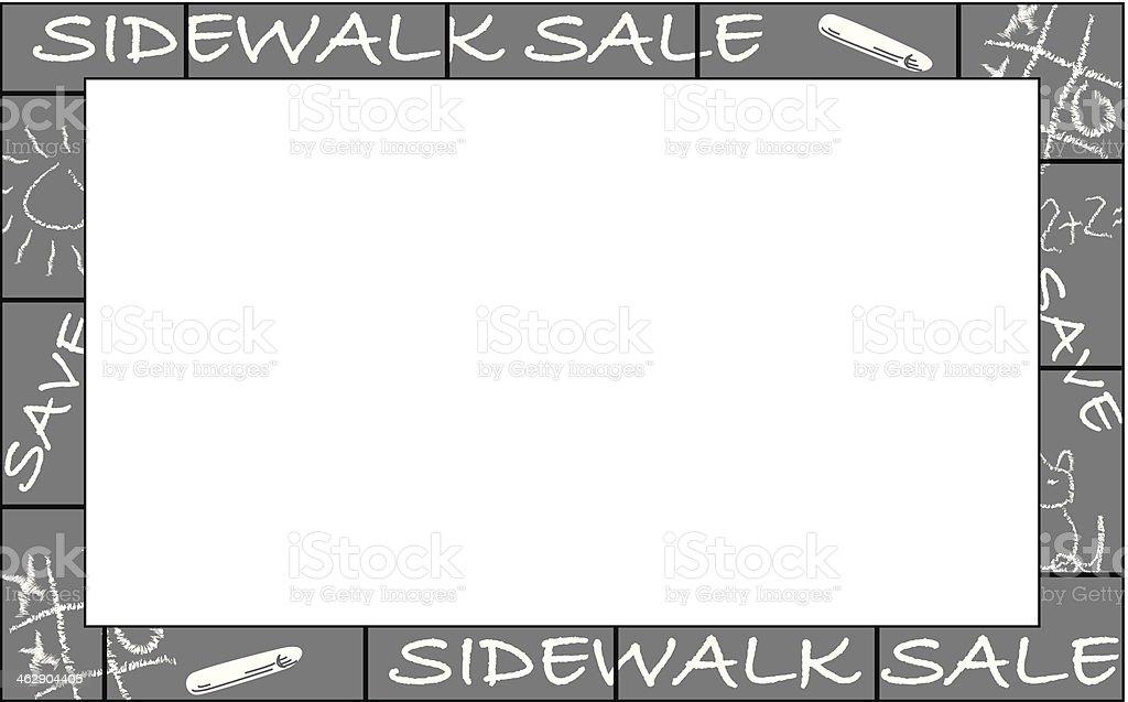 Sidewalk Sale Frame vector art illustration