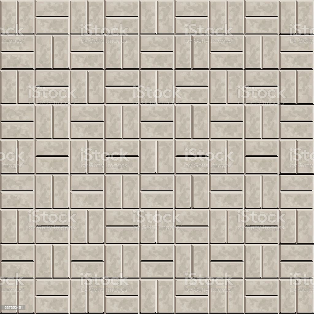 Sidewalk stone tiles vector art illustration