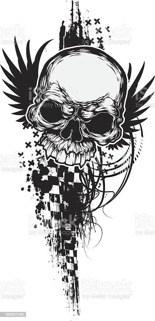 sideways skull royalty-free stock vector art