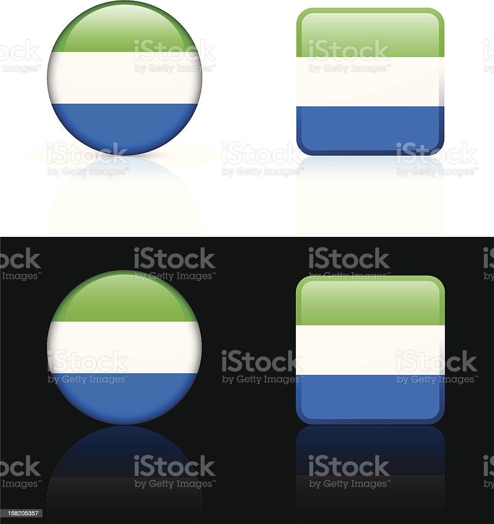 Sierra Leone Flag Button Set royalty-free stock vector art