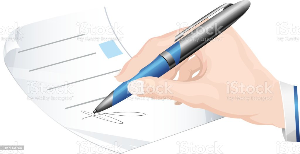 Sign Document royalty-free stock vector art