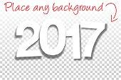 Sign for Design - Paper Font - Blank Background 2017