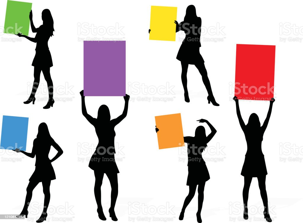 Sign Girls series royalty-free stock vector art