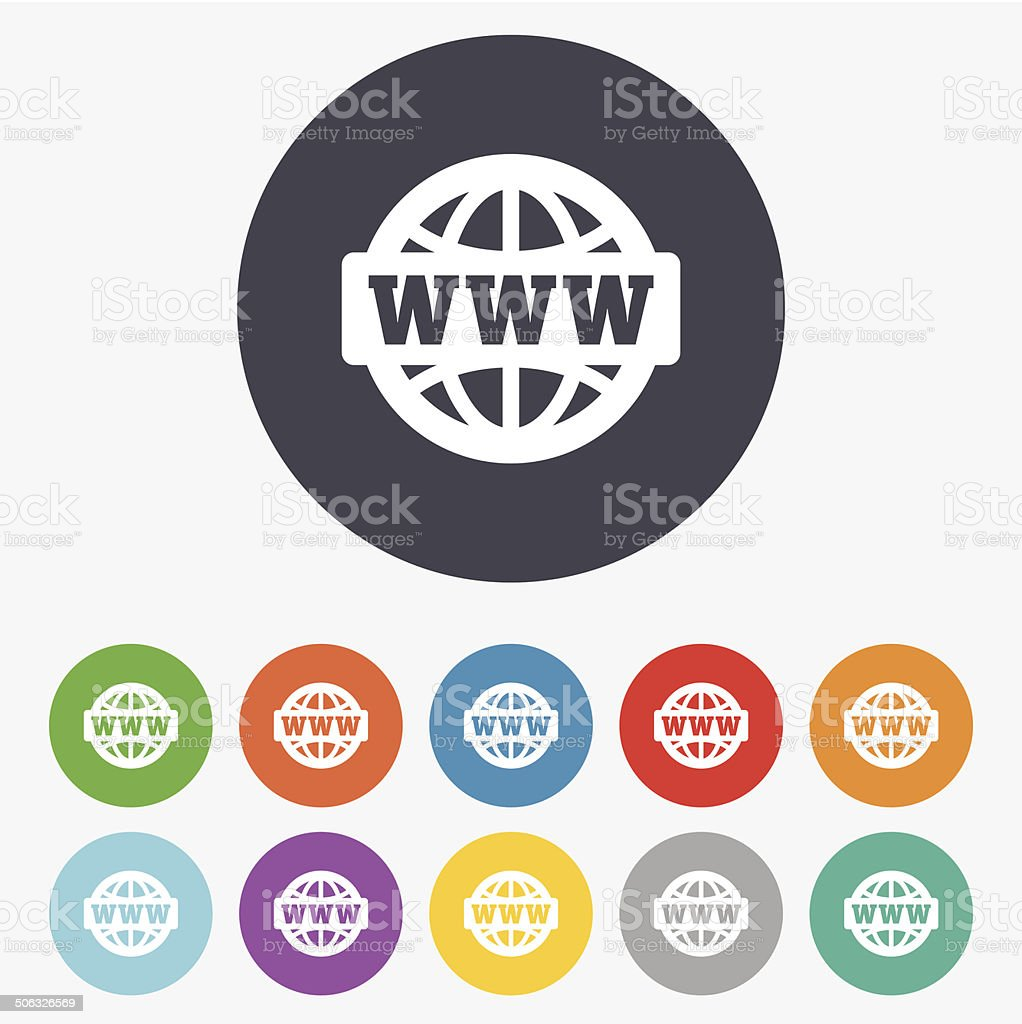 WWW sign icon. World wide web symbol. vector art illustration