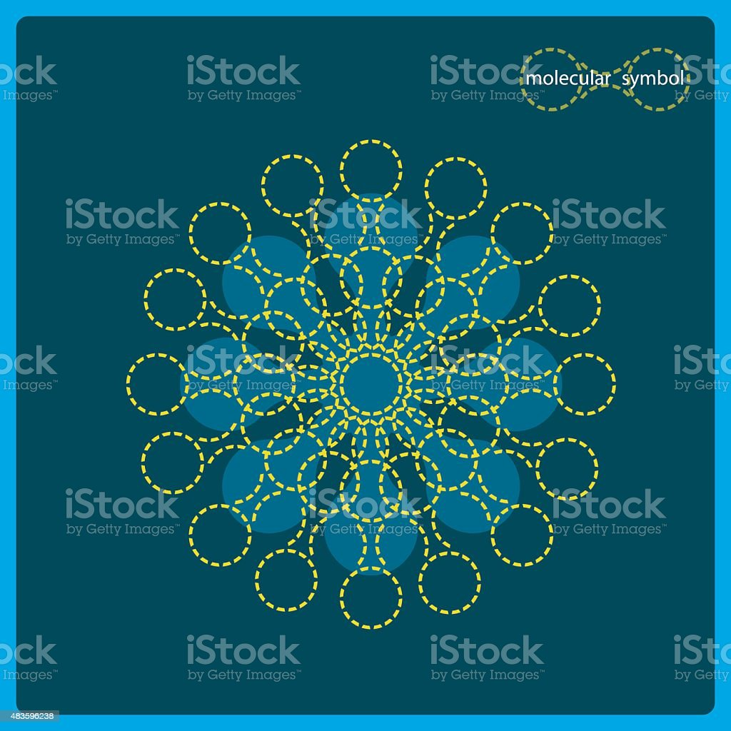 Sign of DNA on a blue background. vector art illustration