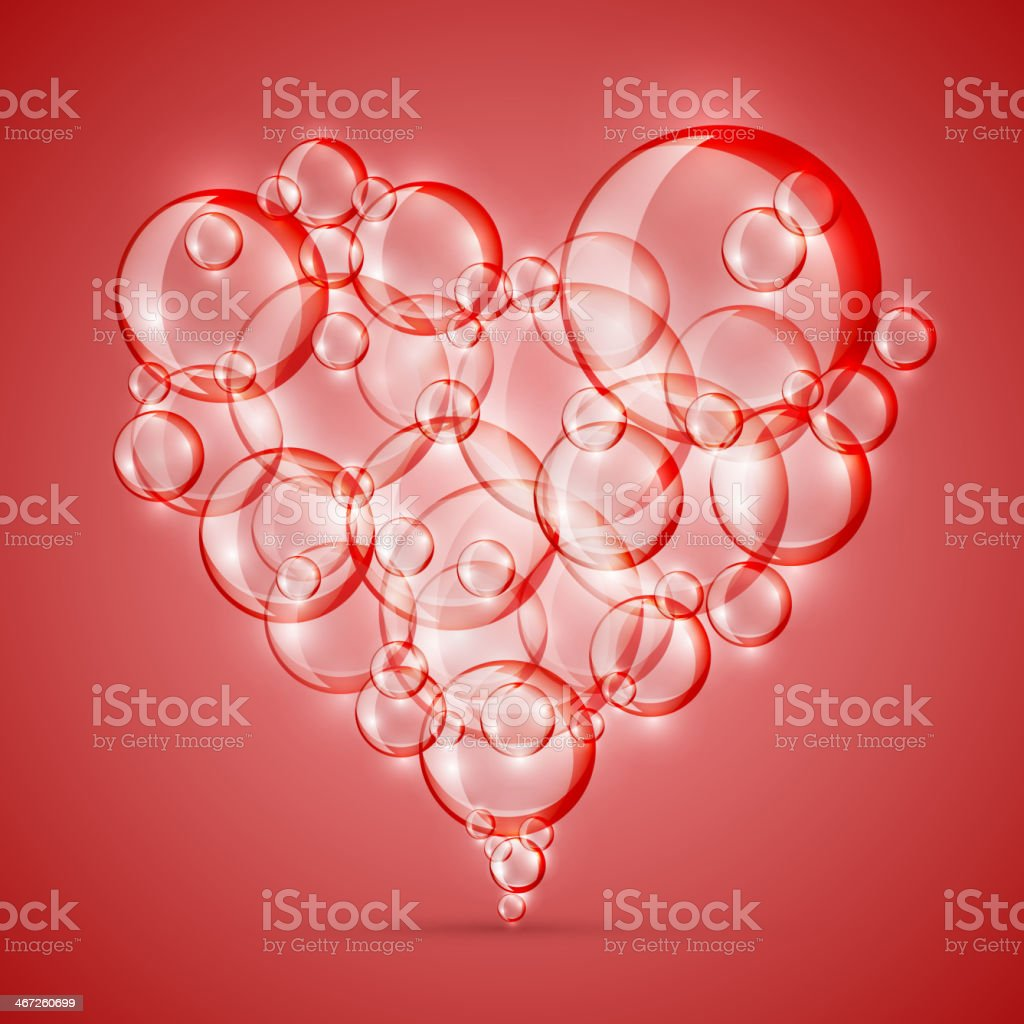 sign of love bubble soap royalty-free stock vector art