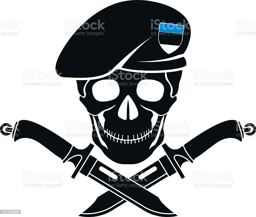 sign of special forces of Estonia vector art illustration
