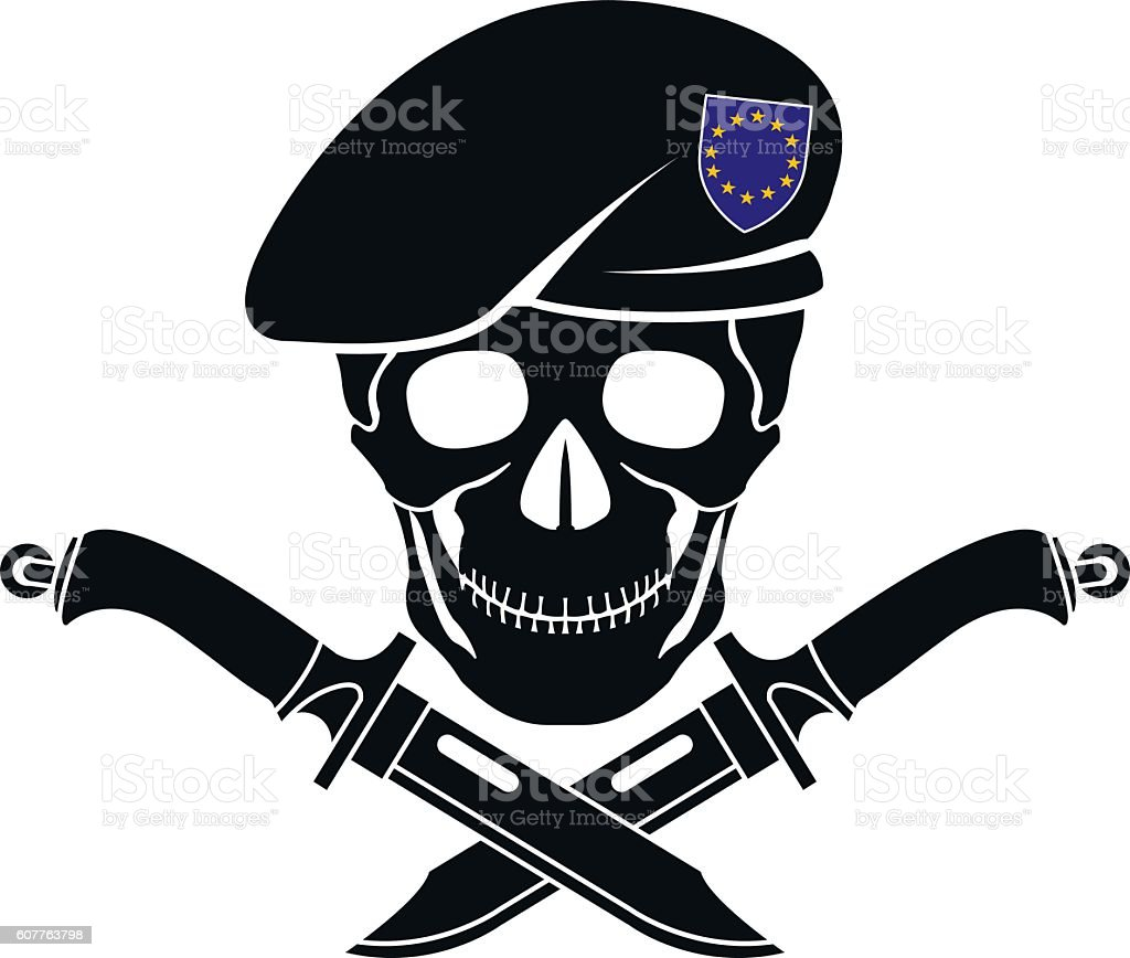 sign of special forces of EU vector art illustration