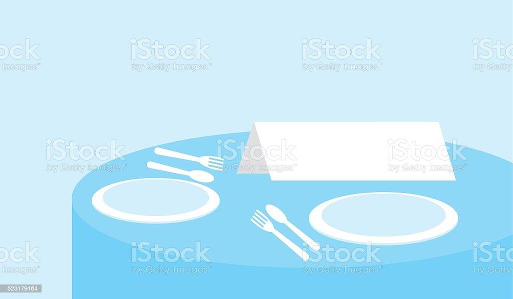 sign on a restaurant table. vector art illustration