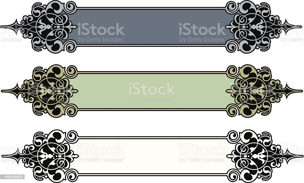 Sign Panel Art Designs royalty-free stock vector art