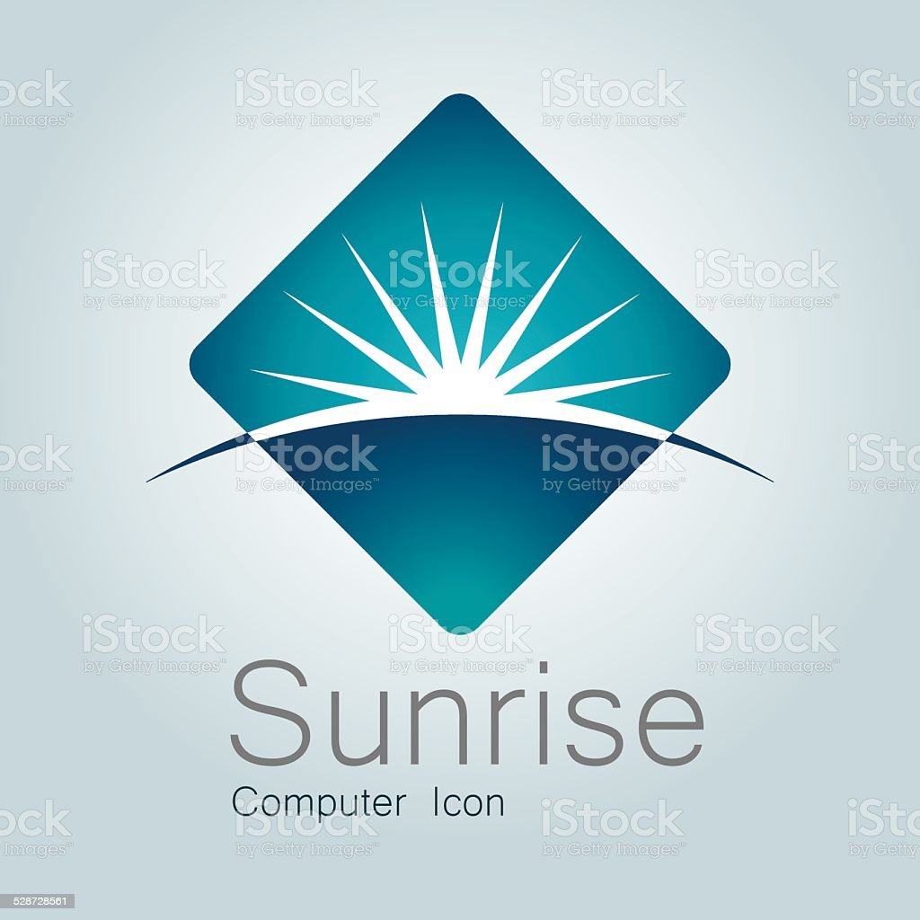 Sign, Sunrise, Earth, Globe,Planet, Horizon, Modern Logo vector art illustration