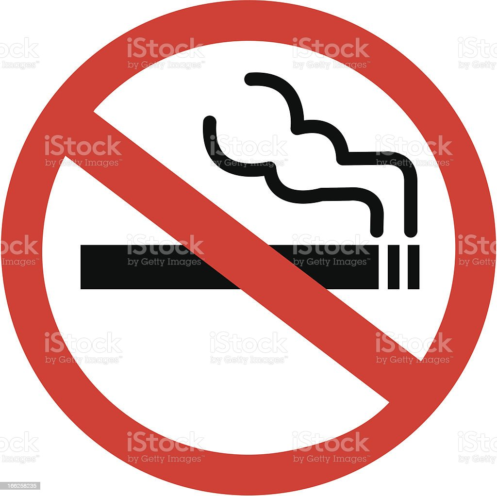 A sign that depicts no smoking royalty-free stock vector art