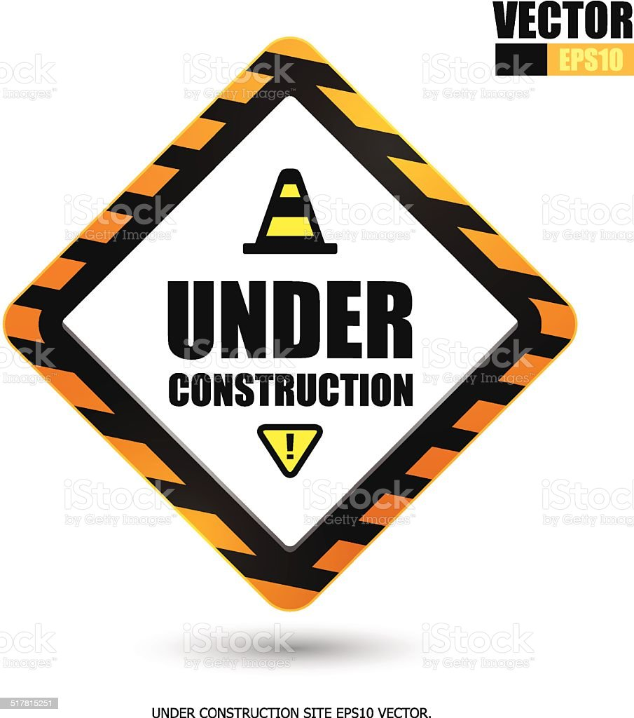 Sign under construction royalty-free stock vector art