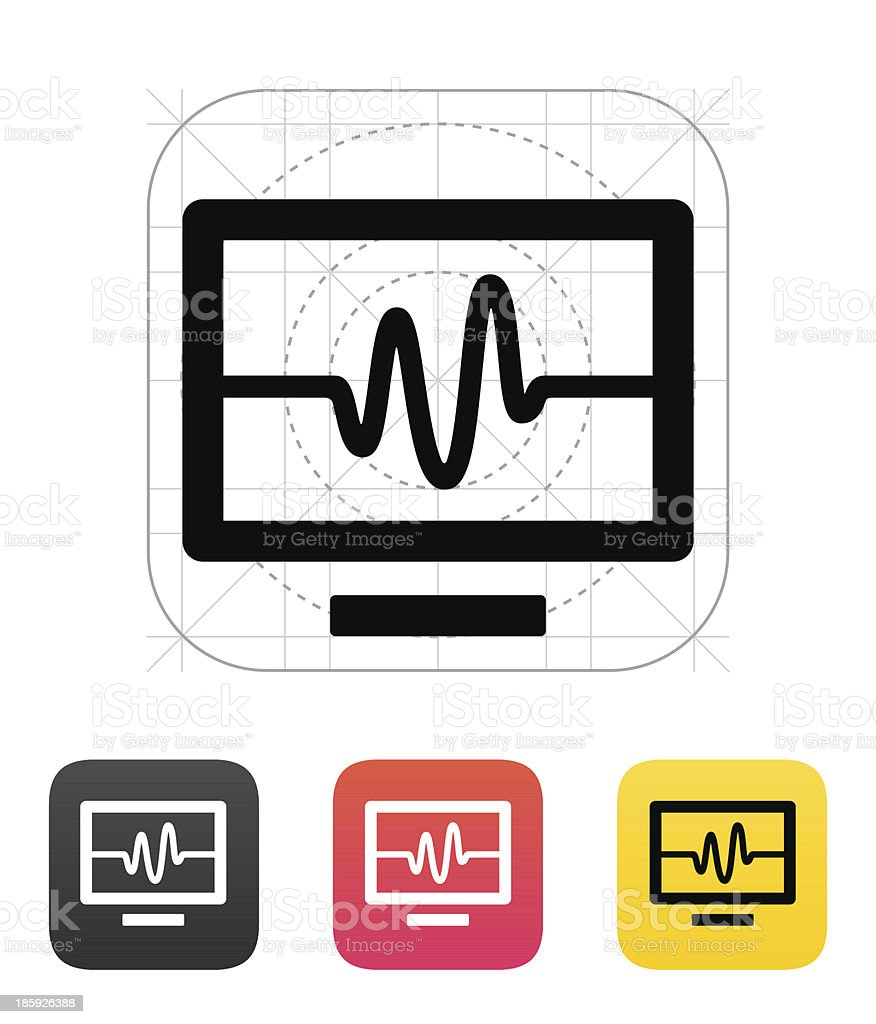 TV signal icon. Vector illustration. royalty-free stock vector art