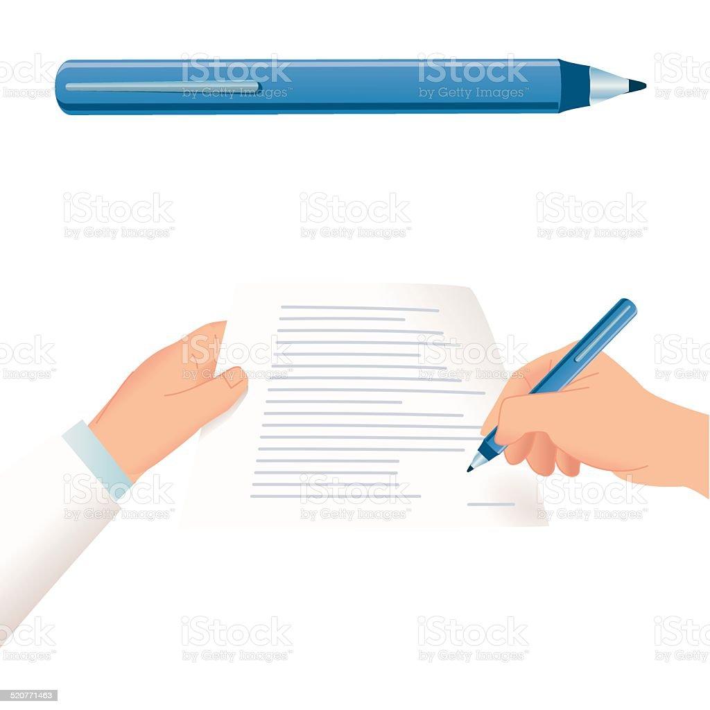 Signature vector art illustration
