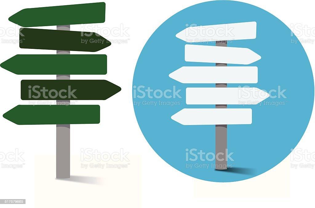 Signboard vector art illustration