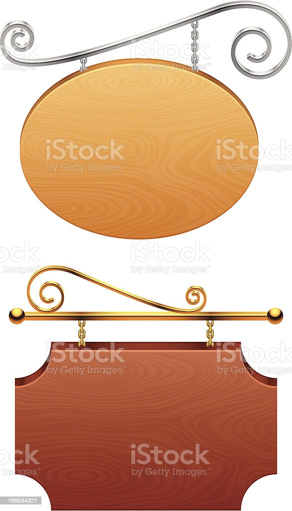 Signboards. royalty-free stock vector art