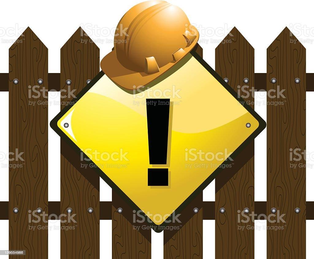 sign-construction royalty-free stock vector art