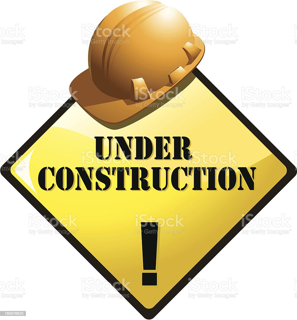 sign-construction royalty-free stock vector art