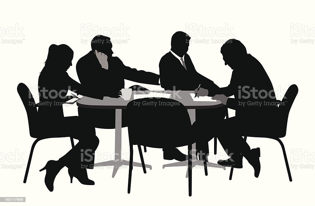 Signing Vector Silhouette royalty-free stock vector art