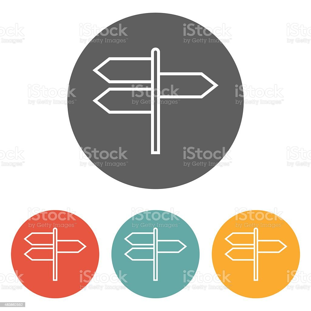 signpost icon vector art illustration