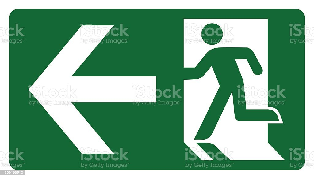 signpost, leave, enter or pass through the door on the left vector art illustration