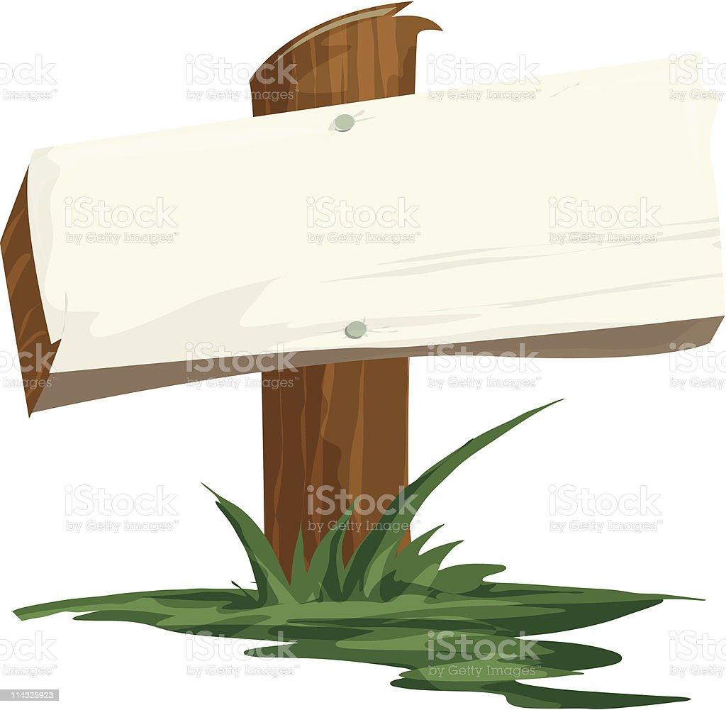 Signpost vector art illustration