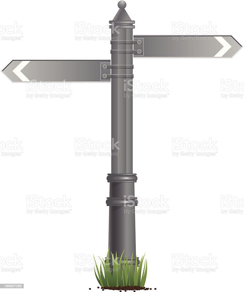 Signpost. royalty-free stock vector art