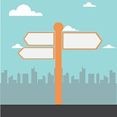 signpost vector illustration