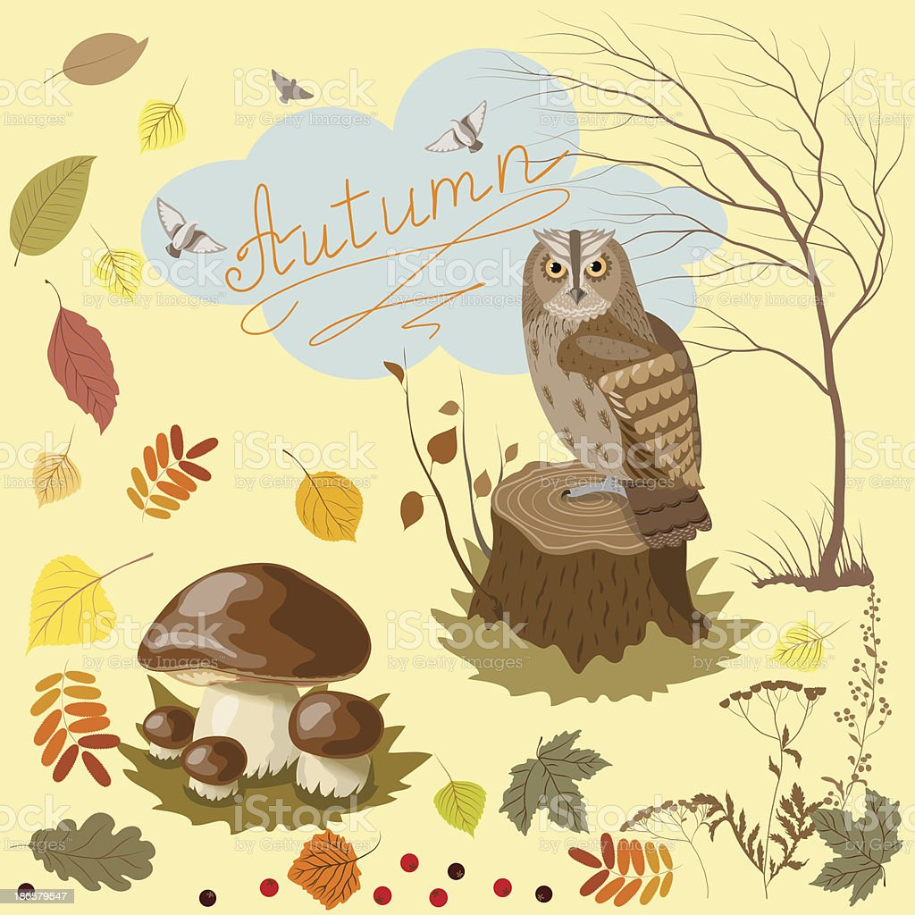signs of autumn royalty-free stock vector art