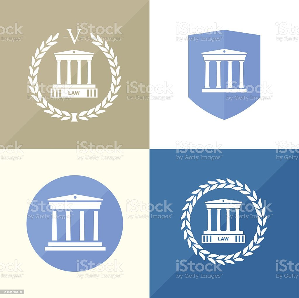 Signs of the notary office vector art illustration