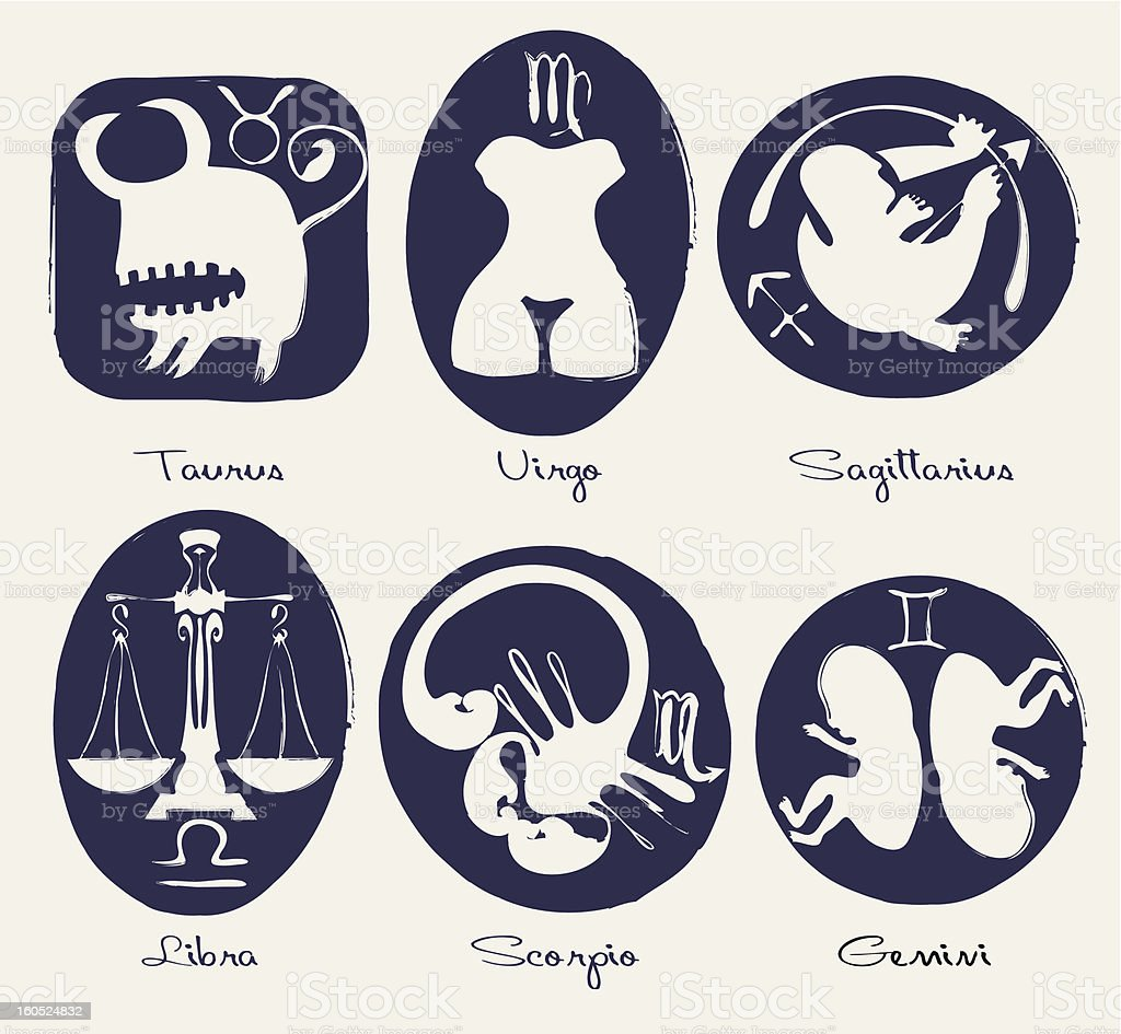 signs of the zodiac royalty-free stock vector art