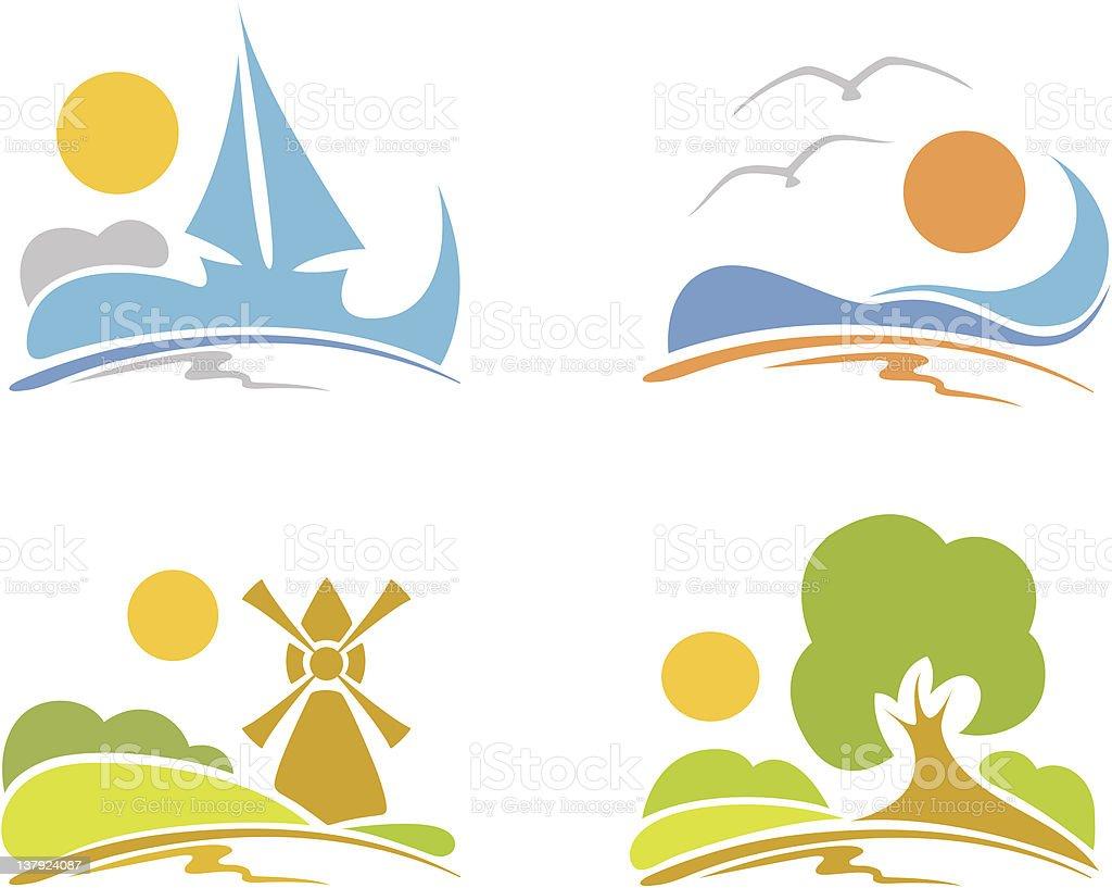 Signs - summer, sea, nature royalty-free stock vector art